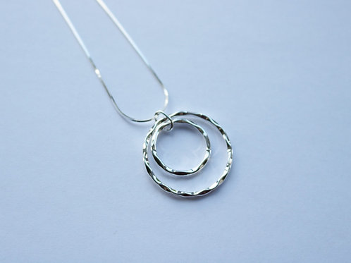 Double Hammered Ring Pendant