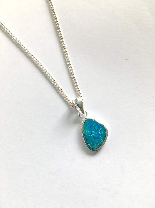 Blue Opalite Freeform Pendant