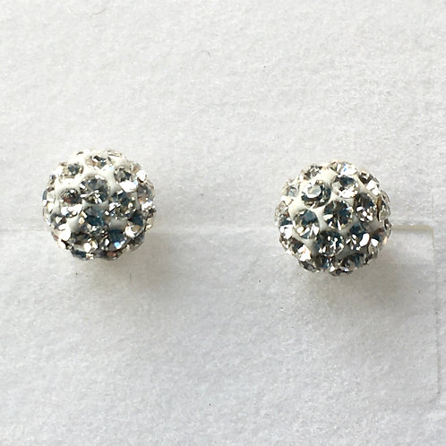 Glitter Ball Stud Earrings
