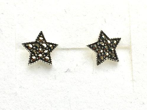 Marcasite Star Stud Earrings