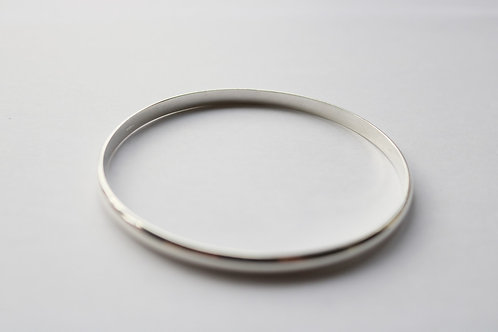 Plain D Shape Bangle