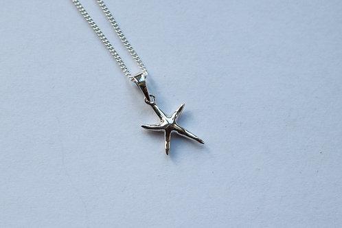 Medium Plain Starfish Pendant