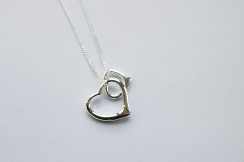 Double Open Hearts Pendant