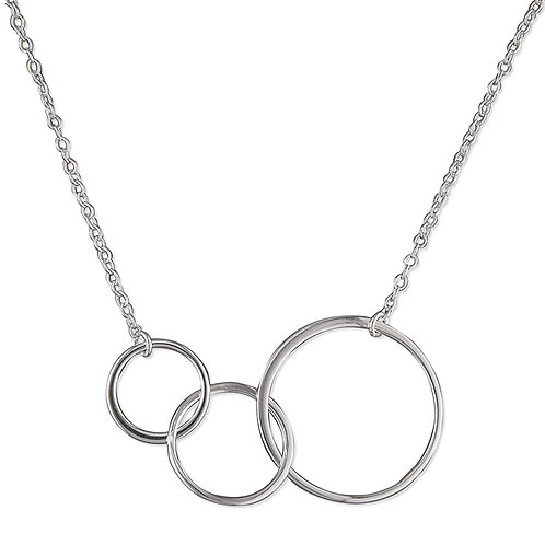 3 Interlocked Rings Necklace