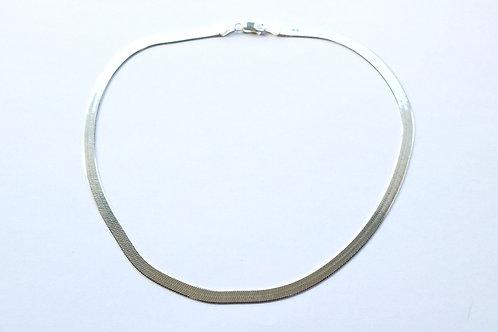 "18"" Narrower Herringbone Shiny Necklace"