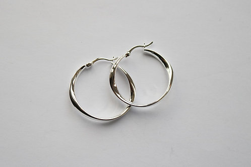 Abstract 3cm Hinged Hoops