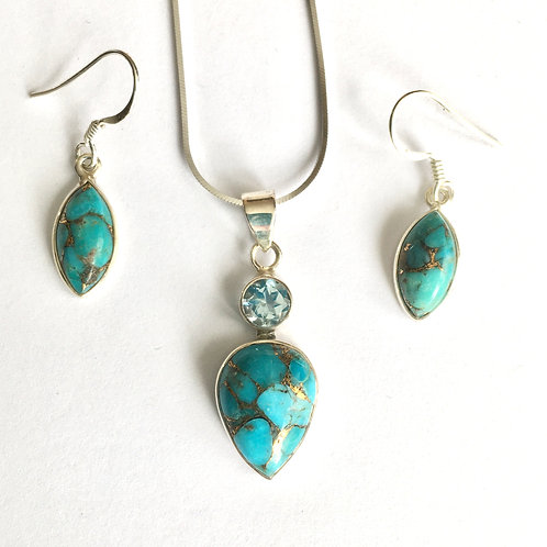 Blue Mohave & Blue Topaz Set
