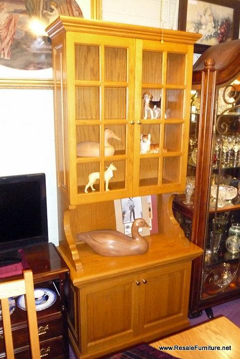 Amish Oak Tall U0026 Narrow China Cabinet (No Glass In Doors) $499