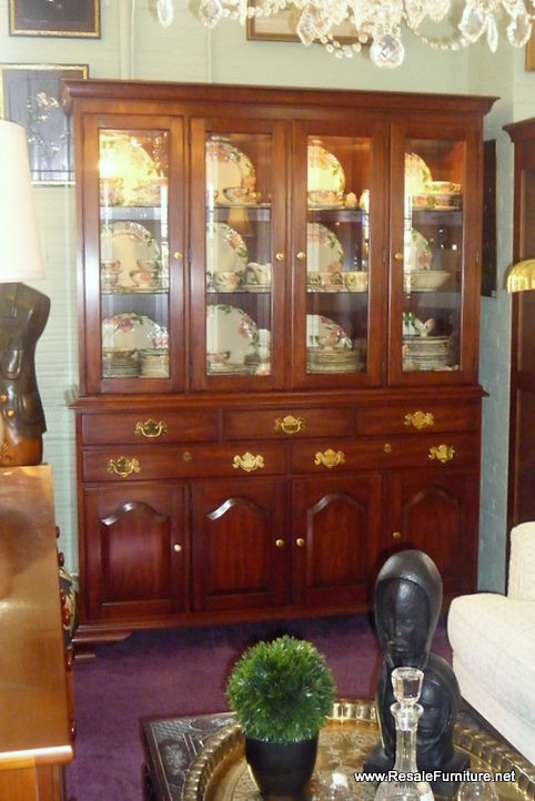 Henkel Harris   Wild Black Cherry 2 Piece China Cabinet $1295