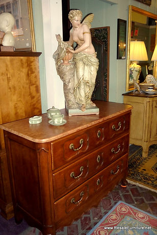 henredon furniture french style vintage marble top 3 drawer chest as is 499