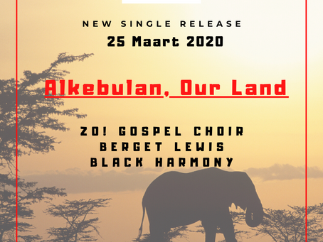 """Nieuwe single ZO! Gospel Choir, Berget Lewis & Black Harmony - """"Alkebun, Our Land"""""""