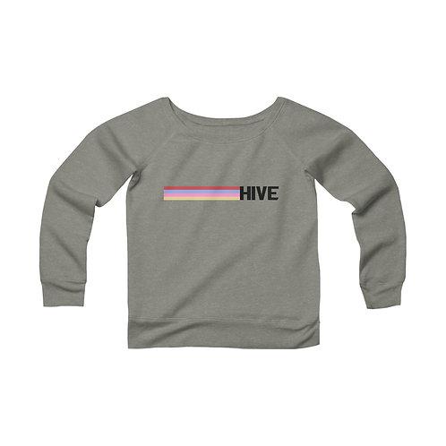 Women's Retro Hive Wide Neck Sweatshirt