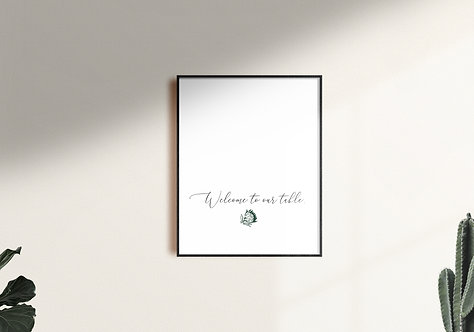 Welcome To Our Table Wall Art 2 - Digital Download