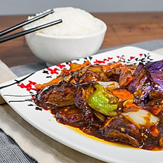 Spicy Eggplant with Garlic Sauce