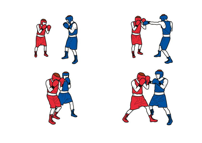 Illustrations réalisées pour l'AIBA, l'association internationale de boxe à Lausanne.
