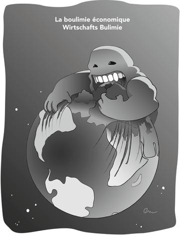 """Illustration sur le thème de l'argent pour la 25e édition du journal Biennois """"Vision 2035"""""""