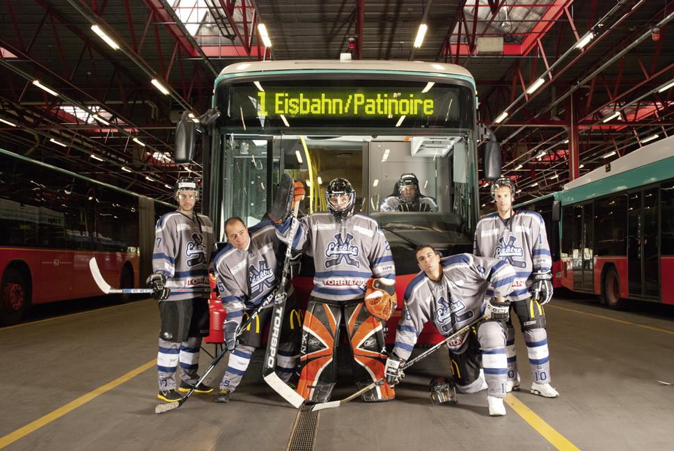 Photos pour le calendrier d'une équipe de Hockey.