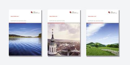 Mise en page des rapports de gestion pour Jura & Trois-Lacs.