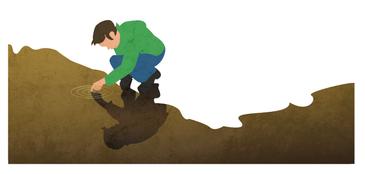 Illustration pour Jura & Trois-Lacs, destinée à animer la brochure sur les balades énergétiques.