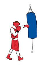 Illustration réalisée pour l'AIBA, l'association internationale de boxe à Lausanne.