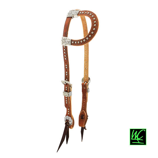WCH JW Silver Dot Russet Pony Headstall