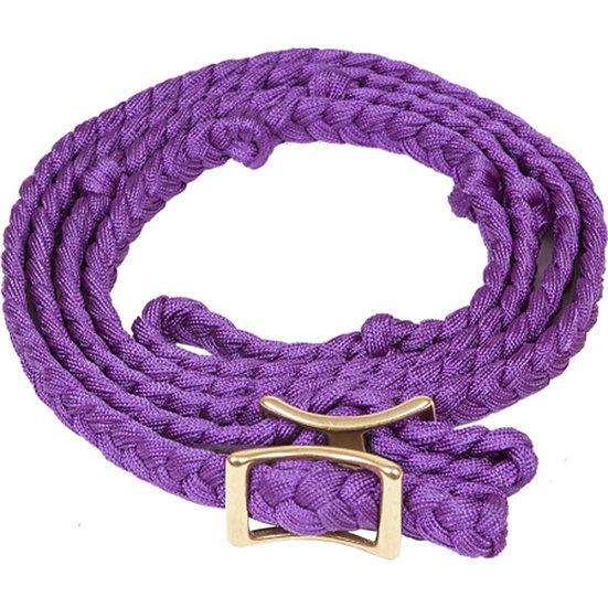 Purple Braided Adjustable Pony Rein