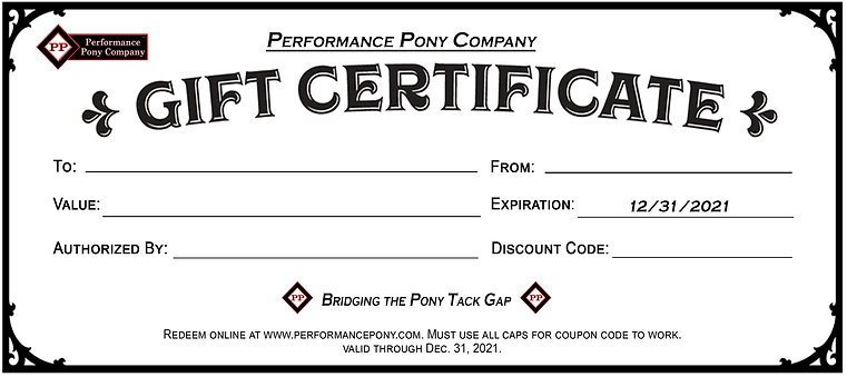 P.P.C. Gift Certificate