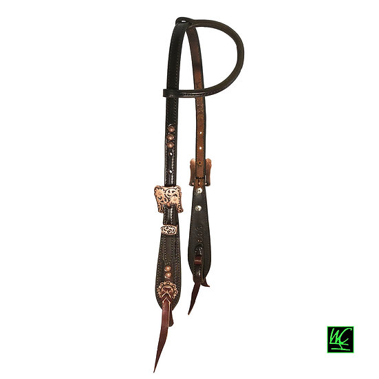 WCH Copper Dot, Walnut Pony Headstall