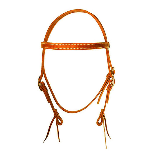 CLASSIC RUSSET BROW BAND W/ HAND TIES