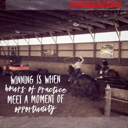 Winning is when