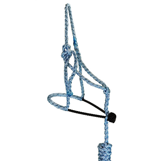 Light Blue MT w/ Black Rope Noseband Pony Halter