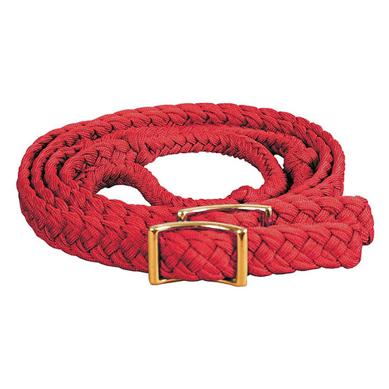 Red Braided Adjustable Pony Reins