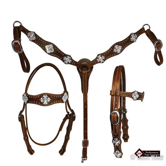 Diamond Berry Concho Tack Set