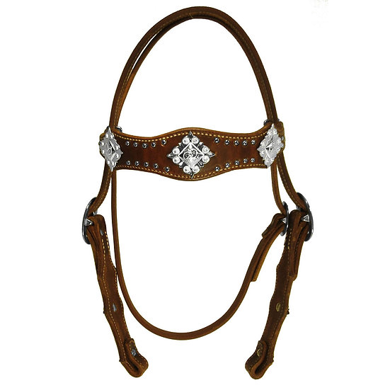 Diamond Cross Berry Concho Headstall