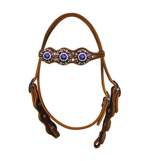RED WHITE & BLUE BROWBAND