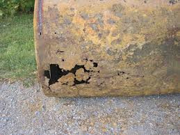 Corroded Oil Tank