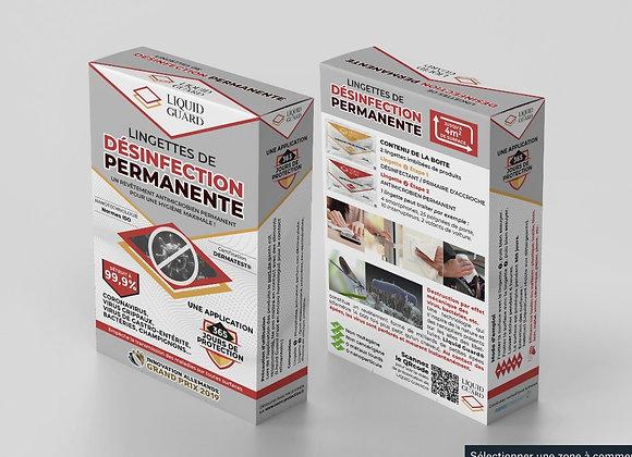 Revêtement antimicrobien permanent - Kit lingettes