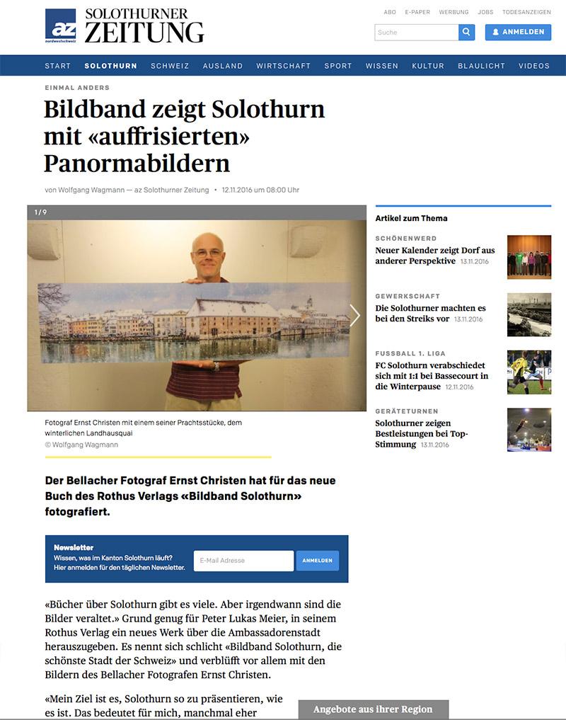 Solothurner Zeitung 12. Nov. 2016