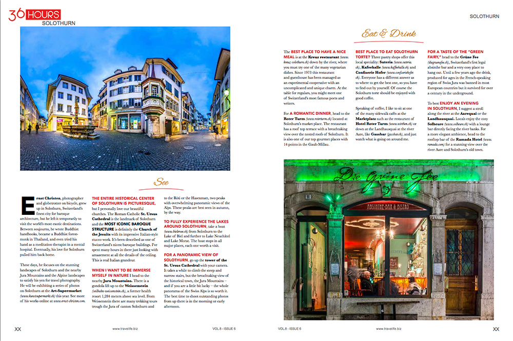 """""""36 hours"""" in Travellife magazine"""