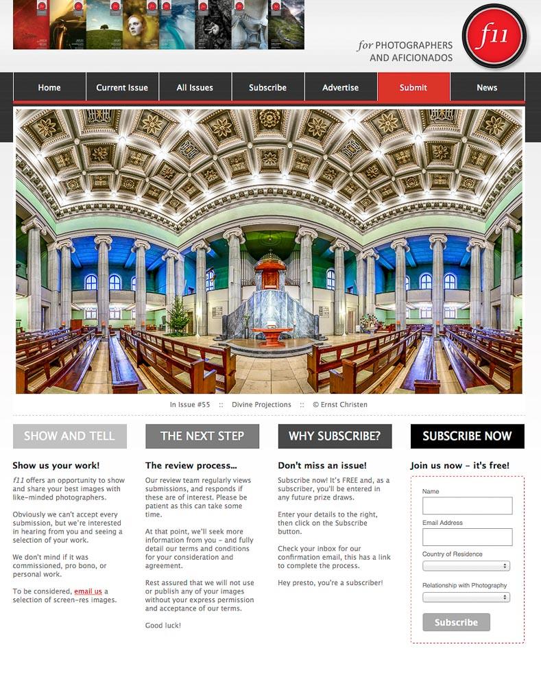 F11 Magazine Webpage