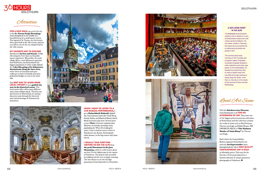 """36 hours"" in Travellife magazine"