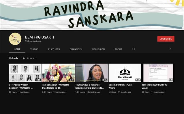 Youtube BEM FKG USAKTI
