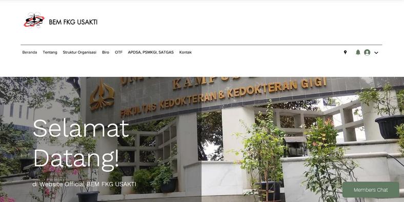Website BEM FKG USAKTI