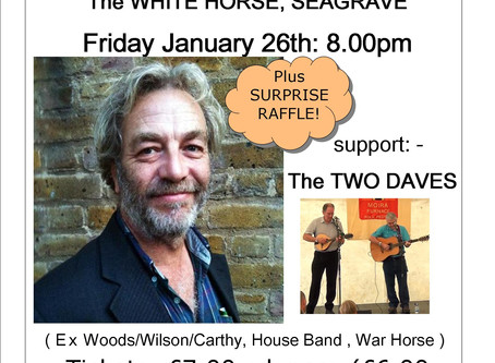 Guest Night: Roger Wilson: Friday January 26th.