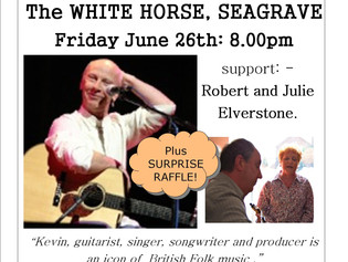 "On Friday 26th June, our guest will be Kevin Dempsey, ex ""Whippersnapper"" and ""Dando"
