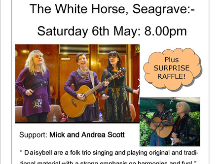 Up and coming gig for your diaries:-