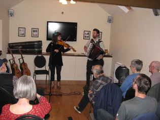 A great gig on Sat March 30th by young musicians Danny Pedler and Rosie Butler-Hall, supported by ou