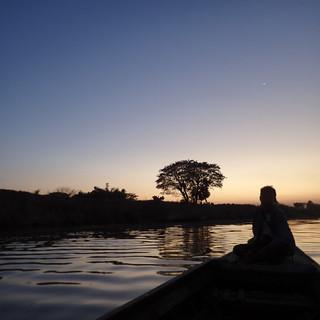 Dusk at Sittaung River