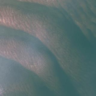 Dunes on the tidal bar