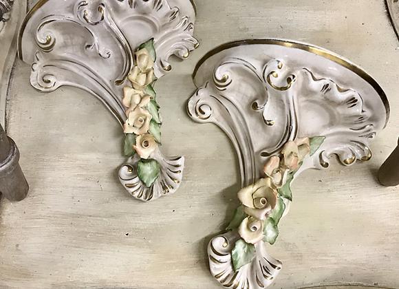 Porcelain Vintage Shelves